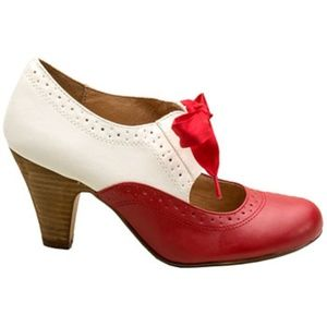 NEW Vintage Pinup Maryjane Saddle Shoes High Heel